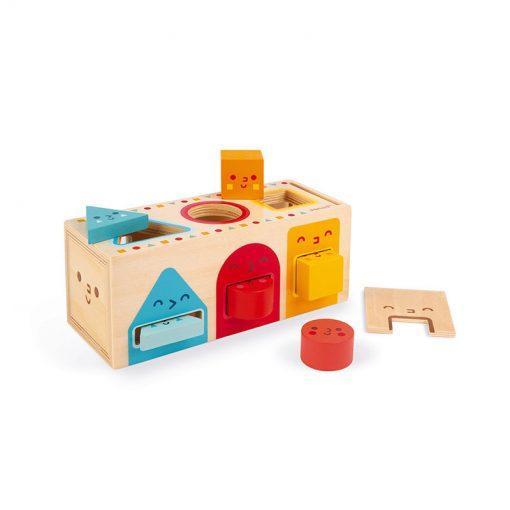 Janod  Drevená vkladačka Montessori tvary 1