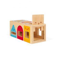 Janod Drevená vkladačka Montessori tvary 3