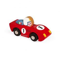 Janod Drevené auto Speed Racing Červené 2
