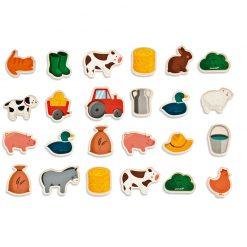 Janod Drevené magnetky Zvieratá na farme  1