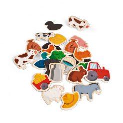 Janod Drevené magnetky Zvieratá na farme 2