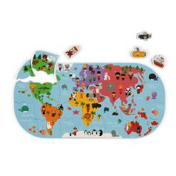 Janod Hračka do vody Puzzle Mapa sveta 1