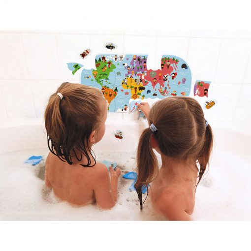 Janod Hračka do vody Puzzle Mapa sveta 4