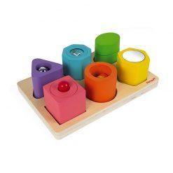 Janod  I wood vkladačka tvary a zvuky 1