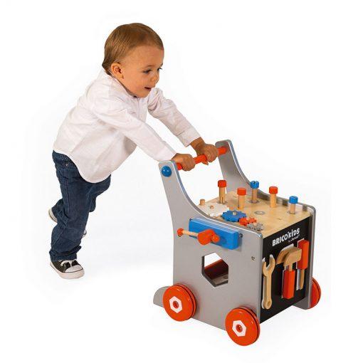 Janod Brico Kids Chodítko a vozík s náradím 4