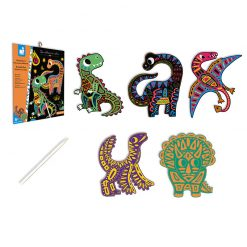 Janod Vyškrabovacie obrázky Dinosaury 2