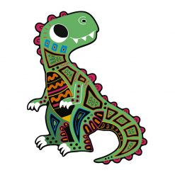 Janod Vyškrabovacie obrázky Dinosaury  3