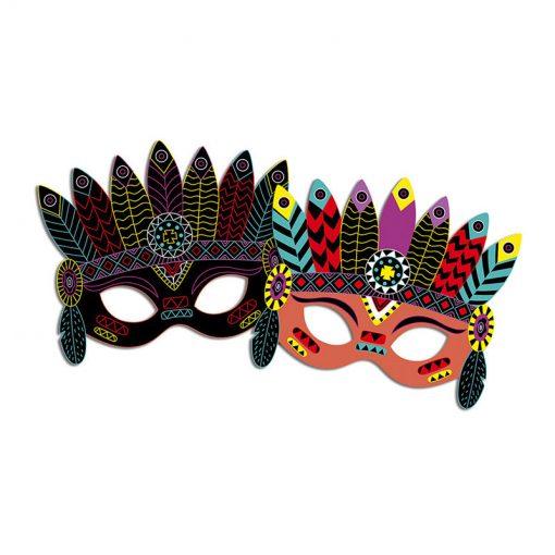 Janod Vyškrabovacie obrázky Party masky 4