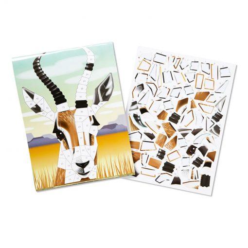 Melissa & Doug  Mozaiková nálepková kniha Safari 2