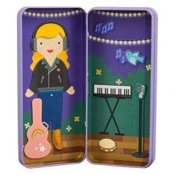 Petitcollage Magnetické puzzle Muzikantka 2