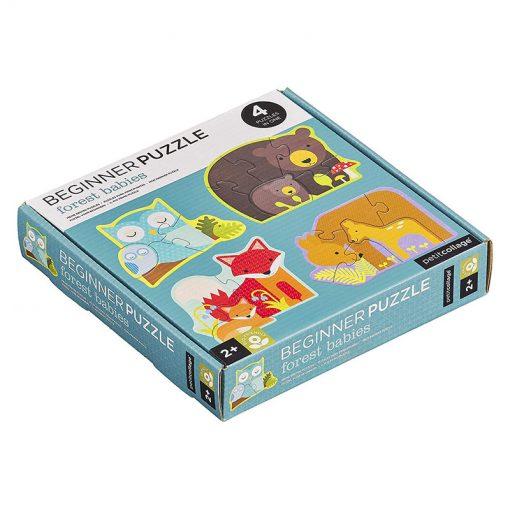 Petitcollage Prvé puzzle Lesné zvieratká 1