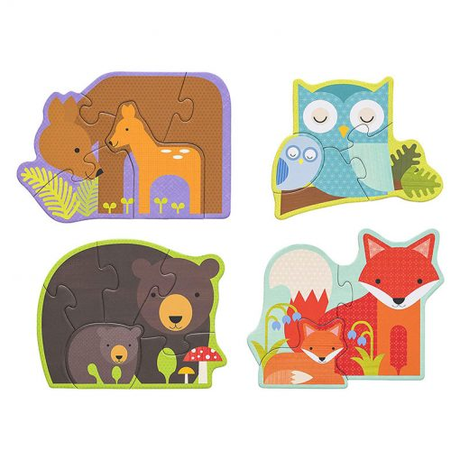 Petitcollage Prvé puzzle  Lesné zvieratká 2