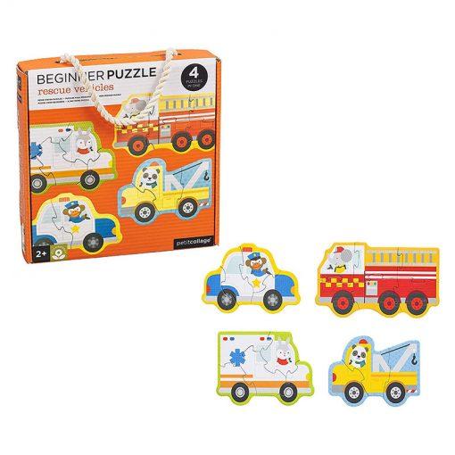 Petitcollage Prvé puzzle  Záchranné vozidlá 2