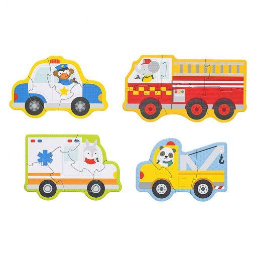 Petitcollage Prvé puzzle  Záchranné vozidlá 3