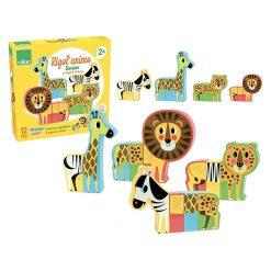 Vilac Drevené puzzle Veselé safari 4