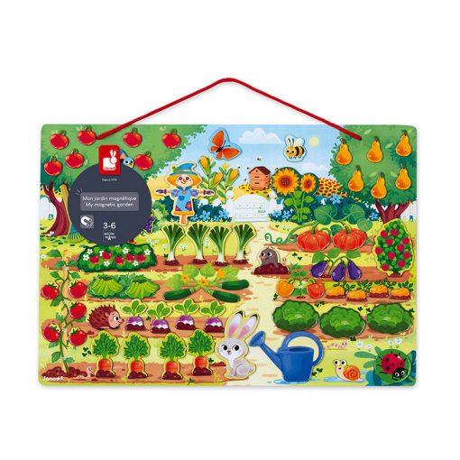 Janod Magnetická hračka Moja záhrada 4