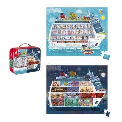 Janod Puzzle  Námorná plavba 2v1  3