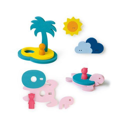 Quut Quutopia Puzzle do vody Ostrov pokladov 1