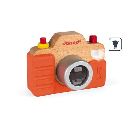 Janod Drevený fotoaparát so zvukom a svetlom 1