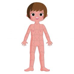 Janod Vzdelávacie Puzzle  Ľudské telo 2