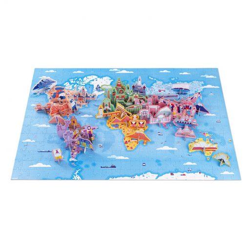 Janod Vzdelávacie Puzzle Zaujímavosti sveta 1