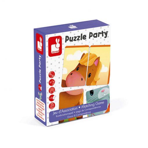 Janod Kartová hra Puzzle party 1