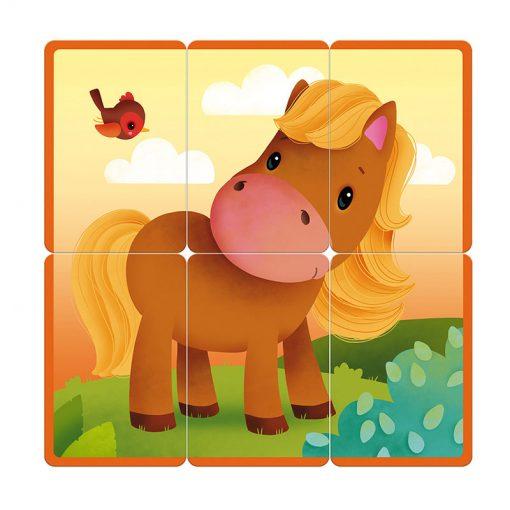 Janod Kartová hra Puzzle party 4