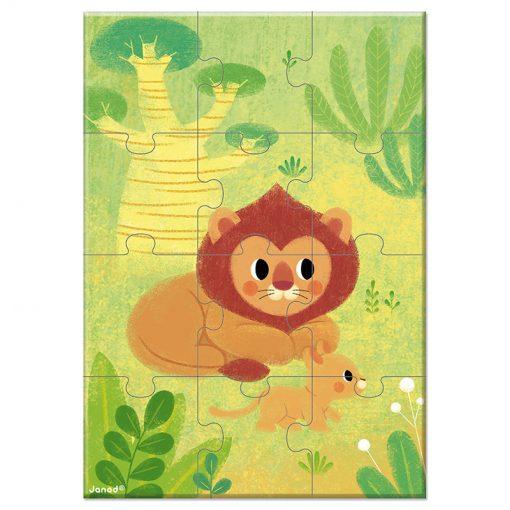 Janod Mini Puzzle Zvieratká Lev 1