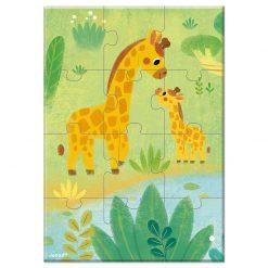 Janod Mini Puzzle Zvieratká Žirafa 1