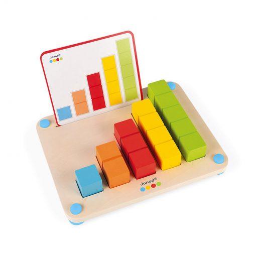 Janod Počítanie s predlohami séria Montessori 1