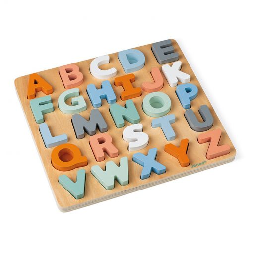 Janod Sweet Cocoon Vkladacie puzzle Abeceda 1