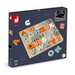 Janod Sweet Cocoon Vkladacie puzzle Abeceda 5
