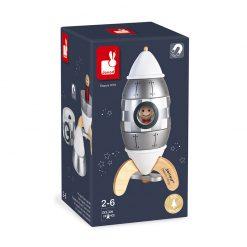 JANOD Drevená magnetická skladačka Raketa strieborná - Special Edition 6