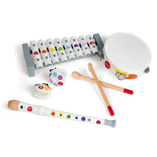 JANOD Drevená sada hudobné nástroje Confetti 1