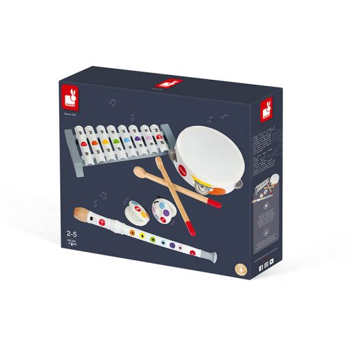 JANOD Drevená sada hudobné nástroje Confetti 4