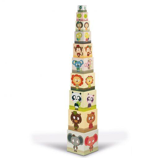 JANOD Skladacia pyramída Rodiny zvierat 2