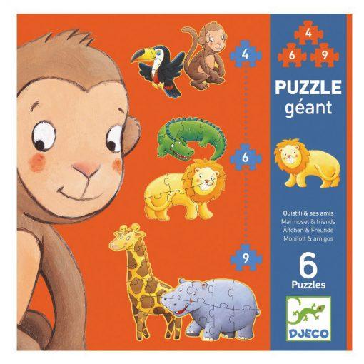 Djeco Puzzle Marmoset a priateľia 1