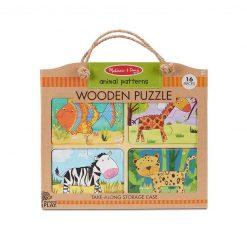 Melissa & Doug Drevené puzzle Vzory zvierat 1