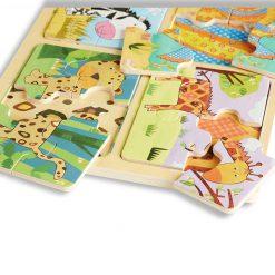 Melissa & Doug Drevené puzzle Vzory zvierat 4