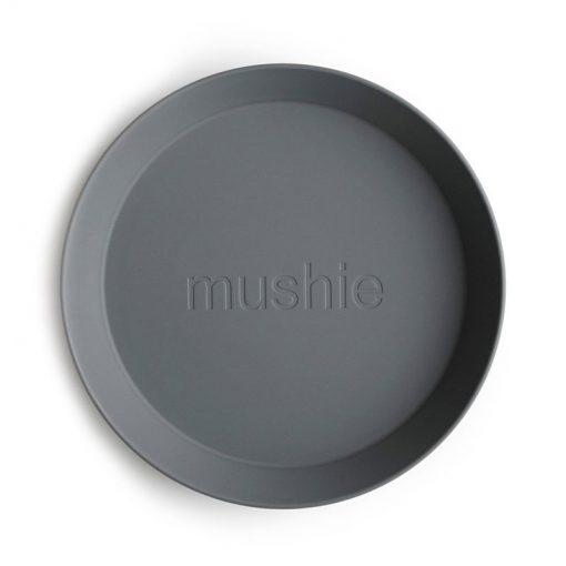 Mushie Okrúhly tanier Smoke 2