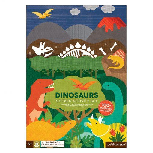 Petitcollage Znovupožiteľné samolepky Dinosaury 1
