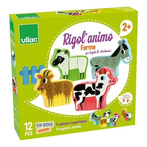 Vilac Drevené puzzle Veselá Farma 1