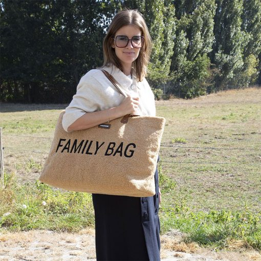 Childhome Cestovná taška Family bag  Teddy Beige 4