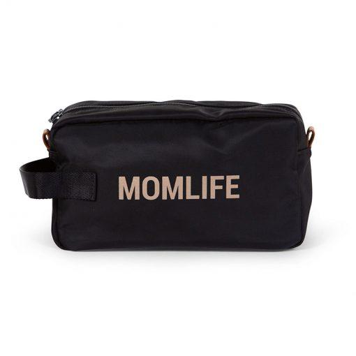 Childhome Toaletná taška Momlife Black gold 2