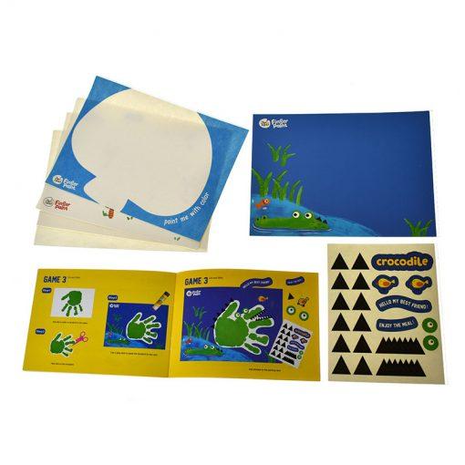 Jarmelo modrý kufrík Prstové farby s pečiatkami 4