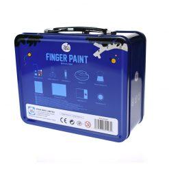 Jarmelo modrý kufrík Prstové farby s pečiatkami 6
