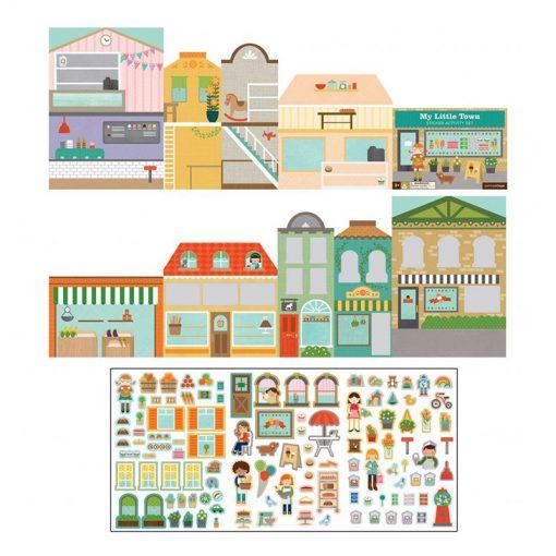 Petitcollage Znovupoužiteľné nálepky Moje malé mesto 2