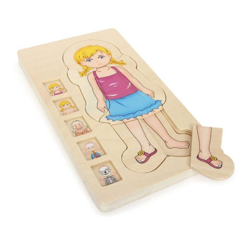Small Foot by Legler Puzzle ľudské telo Lili 2