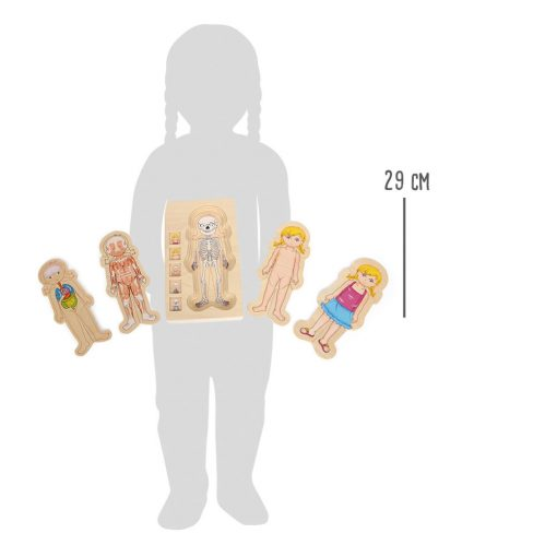 Small Foot by Legler Puzzle ľudské telo Lili 4