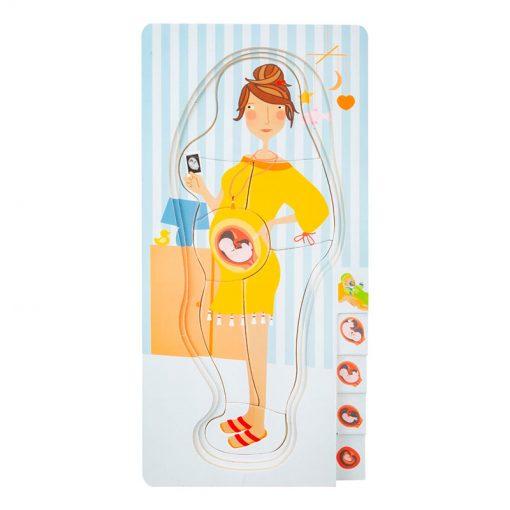Small Foot by Legler Puzzle tehotná mamička 3